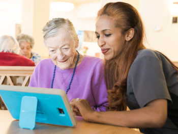iN2L tablet keeps seniors engaged, preventing social isolation